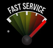 Fast service speedometer sign concept Royalty Free Stock Image