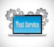 fast service tech computer sign concept Royalty Free Stock Photo