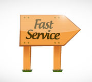 Fast service wood sign concept illustration Stock Photo
