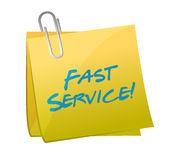 Fast service written on a post. illustration Royalty Free Stock Image