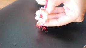 Fast Sharpening Broken Red Pencil stock video