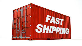 Fast shipping container Royalty Free Stock Photo