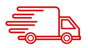 Fast shipping delivery truck, fast shipping service. – vector for stock Stock Photos