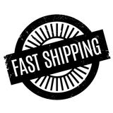 Fast Shipping rubber stamp Stock Photo
