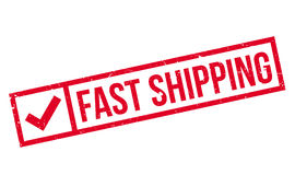 Fast Shipping rubber stamp Stock Photography