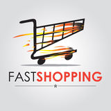 Fast shopping Royalty Free Stock Images