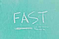 Fast sign Stock Images