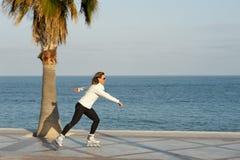 Fast skater stock image