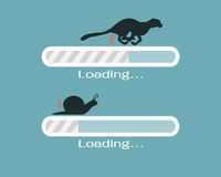 Fast and slow progress loading bar. Web icon Stock Illustration