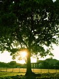 Fast Sonnenuntergang lizenzfreie stockfotografie