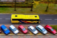 Fast SOR CN12 bus of the TQM company driving through Ostrava-Poruba stock photos