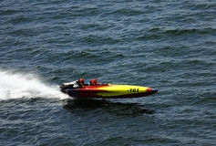 Fast speed boat havign fun Royalty Free Stock Images