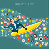 Fast speed mobile internet surfing Stock Images