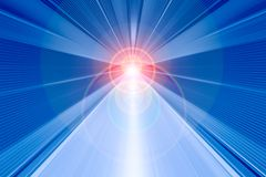 Fast speed motion blur abstract for background with light rays stock illustration