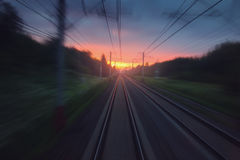 Fast speed railway motion blurred abstract background Stock Photos