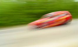 Fast speed rally car  Royalty Free Stock Photos