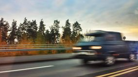 Fast speed on road Royalty Free Stock Image