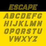 Fast speed style alphabet Royalty Free Stock Photo