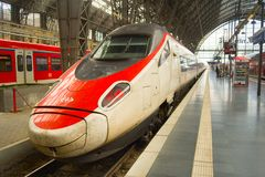 Fast speed train Frankfurt Germany royalty free stock photo