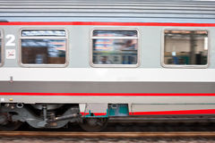 Fast speed train on railway Stock Images