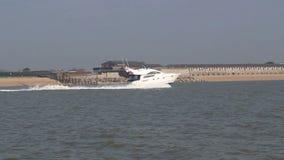 Fast speedboat stock footage