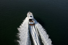 A fast speedboat sailing in a sea Stock Image