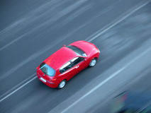 Fast speeding car Royalty Free Stock Photos