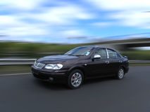 Fast Speeding car. With motion blur Stock Images