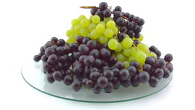 Fast spin of a pile of Grapes stock video