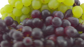 Fast spin of some clusters of Grapes stock video footage