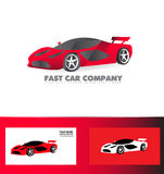 Fast sport car logo red Royalty Free Stock Photo