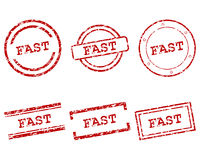 Fast stamps Royalty Free Stock Photos