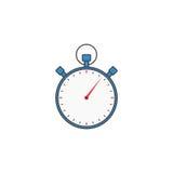 Fast symbol för stoppur, tidmätare för apps stock illustrationer