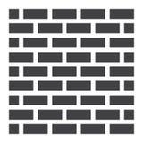 Fast symbol, säkerhet och byggande för tegelstenvägg royaltyfri illustrationer