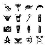 Fast symbolsuppsättning för ö vektor illustrationer