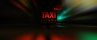 Fast taxi Royalty Free Stock Photography