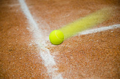 Fast tennis ball Royalty Free Stock Images