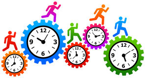 Fast time. Time going fast, and having stress and deadlines stock illustration