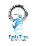 Fast in Time. Social icon Stock Photo