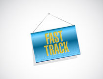 Fast track banner sign concept Royalty Free Stock Photos