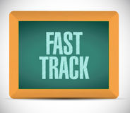 Fast track board sign concept Stock Images