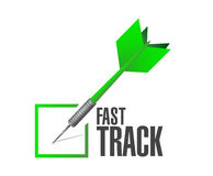 Fast track check dart sign concept Stock Images
