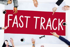 Fast Track Increase Improvement Development Raising Concept Stock Photos