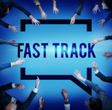 Fast Track Increase Improvement Development Raising Concept Royalty Free Stock Images