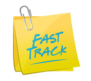 Fast track memo post sign concept Stock Photos