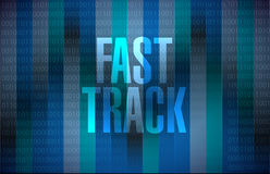 Fast track message sign concept Royalty Free Stock Photo