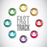fast track people diagram sign concept Stock Photography