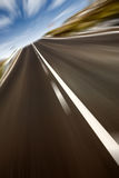Fast track - road in motion Stock Photo