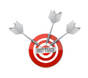 Fast track target sign concept Stock Images