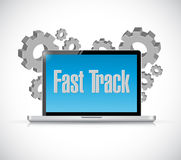 Fast track technology sign concept Royalty Free Stock Photo